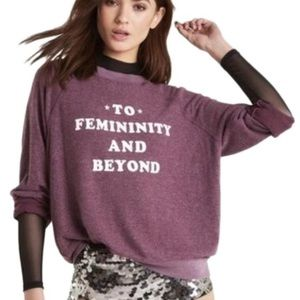 Wildfox To Femininity And Beyond Maroon Sweater